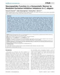 Plos Genetics : Neuropeptides Function i... by Goodman, Miriam B.