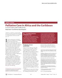Plos Medicine : Palliative Care in Afric... by Spence, Dingle