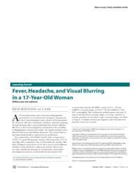 Plos Medicine : Fever, Headache, and Vis... by Lynn, William