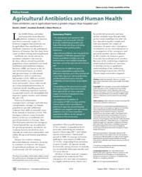 Plos Medicine : Agricultural Antibiotics... by Smith, David, L.