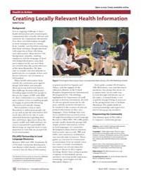Plos Medicine : Creating Locally Relevan... by Carter, Isabel