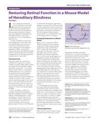 Plos Medicine : Restoring Retinal Functi... by Moore, Tony