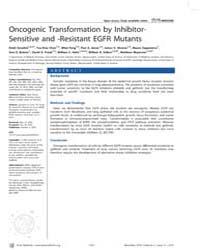 Plos Medicine : Oncogenic Transformation... by Greulich, Heidi