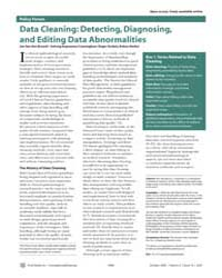 Plos Medicine : Data Cleaning ; Detectin... by Broeck, Jan, Van, Den