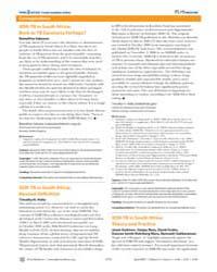 Plos Medicine : Xdr-tb in South Africa ;... by Sakoane, Ramalitse