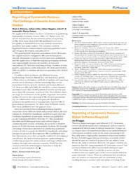 Plos Medicine : Reporting of Systematic ... by Khoury, Muin, J.