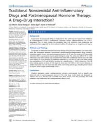 Plos Medicine : Traditional Nonsteroidal... by Garcıa Rodrıguez, Luis Alberto