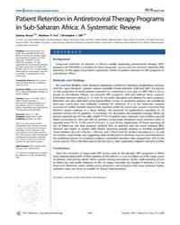 Plos Medicine : Patient Retention in Ant... by Rosen, Sydney