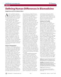 Plos Medicine : Defining Human Difference... by Public Library of Science (Plos)