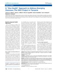 Plos Medicine : a ''one Health'' Approac... by Mazet, Jonna A. K.