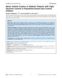 Plos Medicine : Motor Vehicle Crashes in... by Redelmeier, Donald A.