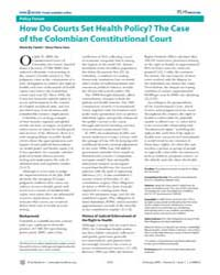 Plos Medicine : How Do Courts Set Health... by Yamin, Alicia Ely