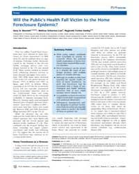 Plos Medicine : will the Public's Health... by Bennett,gary G.