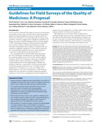 Plos Medicine : Guidelines for Field Sur... by Newton, Paul N.