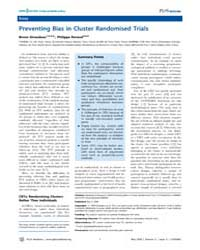 Plos Medicine : Preventing Bias in Clust... by Giraudeau, Bruno