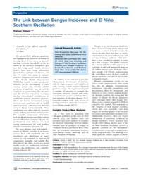 Plos Medicine : the Link Between Dengue ... by Pejman, Rohani