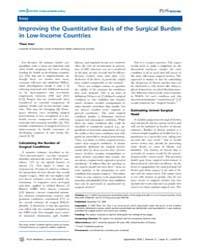 Plos Medicine : Improving the Quantitati... by Theo, Vos
