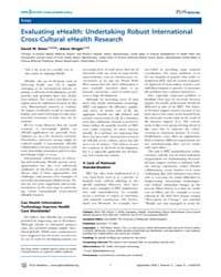 Plos Medicine : Evaluating Ehealth ; Und... by Bates, David W.
