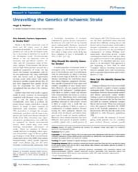 Plos Medicine : Unravelling the Genetics... by Markus, Hugh S.