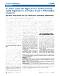 Plos Medicine : a Call for Action ; the ... by Wernli, Didier