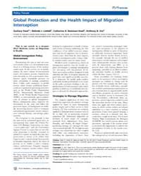 Plos Medicine : Global Protection and th... by Steel, Zachary