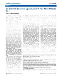 Plos Medicine : on the Path to Global Op... by Public Library of Science (Plos)