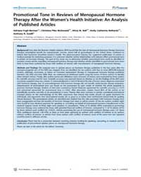 Plos Medicine : Promotional Tone in Revi... by Fugh-berman, Adriane