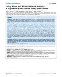 Plos Medicine : Living Alone and Alcohol... by Herttua, Kimmo