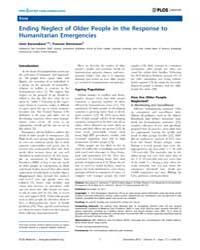 Plos Medicine : Ending Neglect of Older ... by Karunakara, Unni