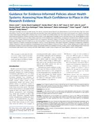 Plos Medicine : Guidance for Evidence-in... by Lewin, Simon