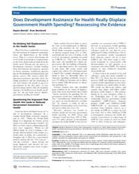 Plos Medicine : Does Development Assista... by Batniji, Rajaie