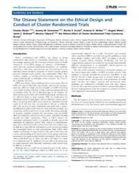 Plos Medicine : the Ottawa Statement on ... by Weijer, Charles