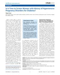 Plos Medicine : is it Time to Screen Wom... by Tran, Thach