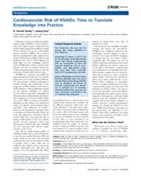 Plos Medicine : Cardiovascular Risk of N... by Reddy, K. Srinath