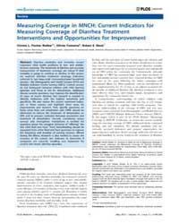 Plos Medicine : Measuring Coverage in Mn... by Walker, Christa L. Fischer