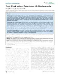 Plos Neglected Tropical Diseases : Tonic... by Lohia, Anuradha