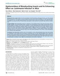 Plos Neglected Tropical Diseases : Hyalu... by Valenzuela, Jesus, G.