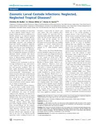 Plos Neglected Tropical Diseases : Zoono... by Carabin, Helene