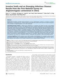 Plos Neglected Tropical Diseases : Invas... by Knight, Matty