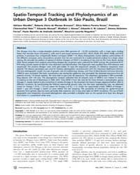 Plos Neglected Tropical Diseases : Spati... by Gubler, Duane