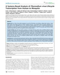 Plos Neglected Tropical Diseases : a Sys... by Dinglasan, Rhoel, Ramos