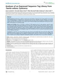 Plos Neglected Tropical Diseases : Analy... by Garcia, Hector, H.