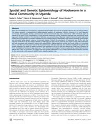 Plos Neglected Tropical Diseases : Spati... by Bethony, Jeffrey, Michael