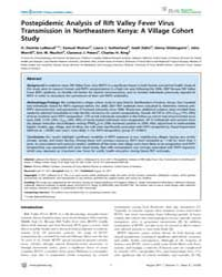 Plos Neglected Tropical Diseases : Poste... by Geisbert, Thomas, William