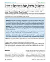 Plos Neglected Tropical Diseases : Towar... by King, Charles, H.
