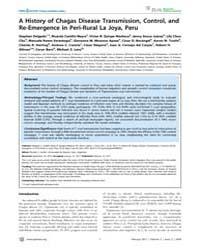 Plos Neglected Tropical Diseases : Histo... by Gurtler, Ricardo E.