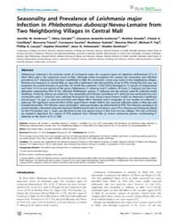 Plos Neglected Tropical Diseases : Seaso... by Bates, Paul, Andrew