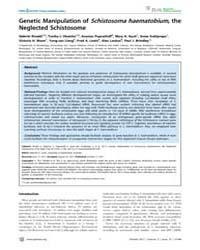 Plos Neglected Tropical Diseases : Genet... by Jones, Malcolm K.