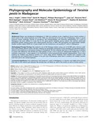 Plos Neglected Tropical Diseases : Phylo... by Picardeau, Mathieu