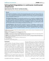 Plos Neglected Tropical Diseases : Sphin... by McMahon-Pratt, Diane